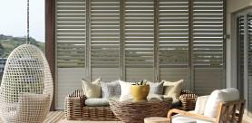 Plantation Shutters make both solid wood and aluminium shutters, offering designers and homeowners both options of elegance and security.