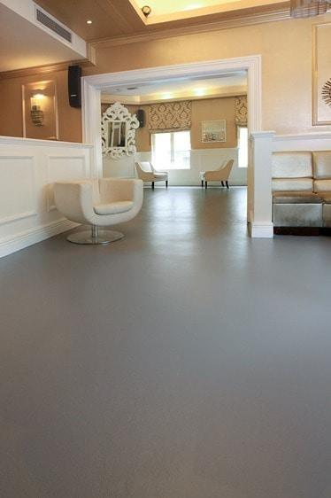 Paint perfection turn a bland cement floor into a for Cement paint colors for floors