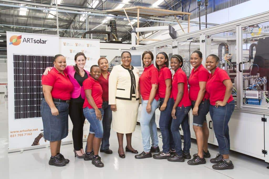 ART Solar - Minister of Energy Ms Dipuo Peters visits plant