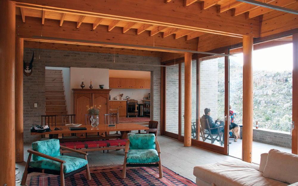 Inside, the extensive use of timber continues the nature-inspired theme.