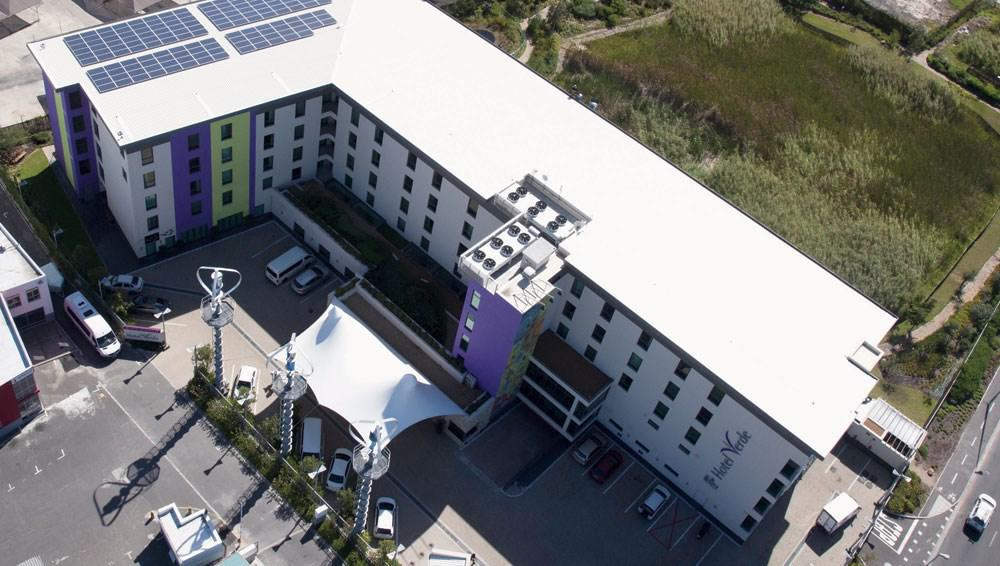 Clean COLORBOND steel by Bluescope Steel used to roof Hotel Verde