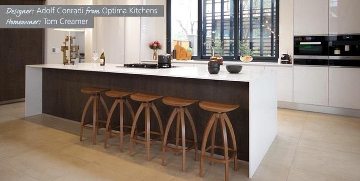 Adolf Conradi from Optima Kitchens has two kitchens as finalists in Ceasarstone Kitchen of the Year