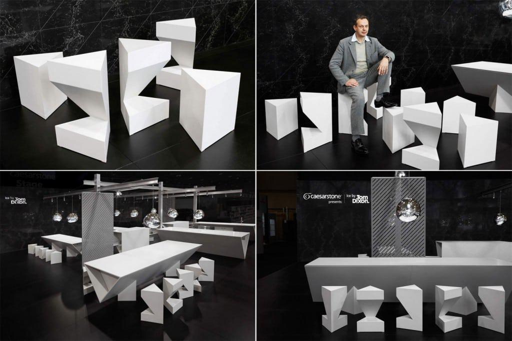 ICE, an ice-inspired kitchen installation by Dixon, was unveiled at the Interior Design Show in Toronto.
