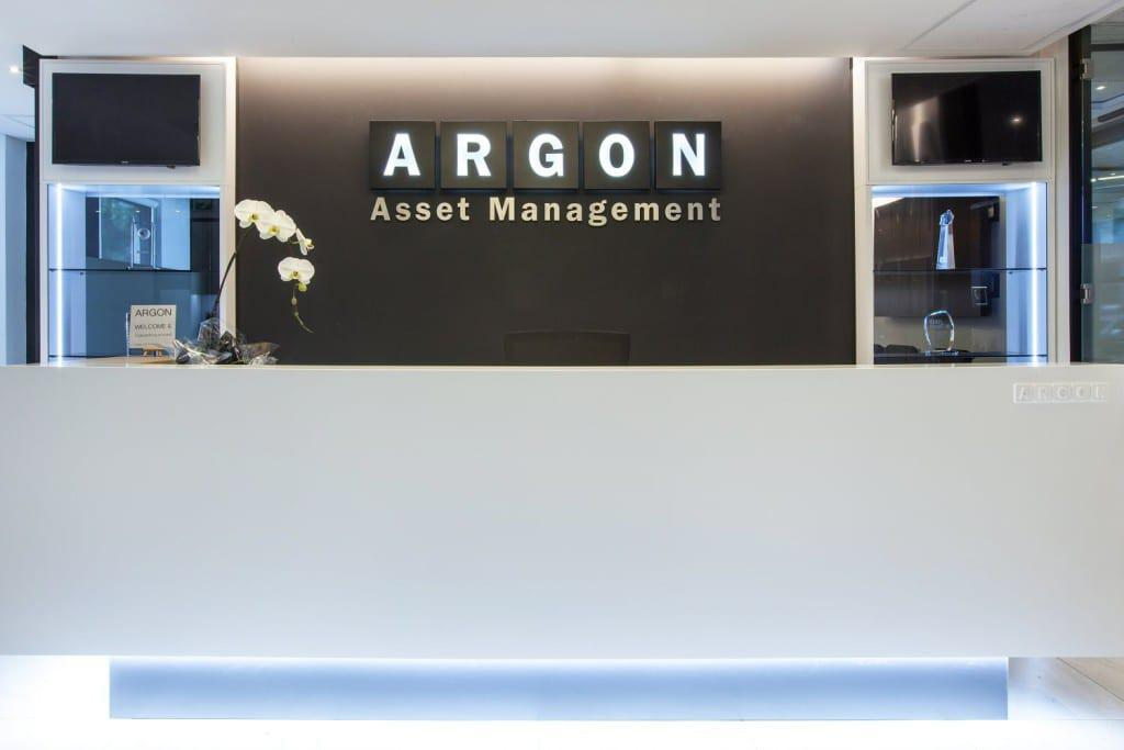 The Argon reception area