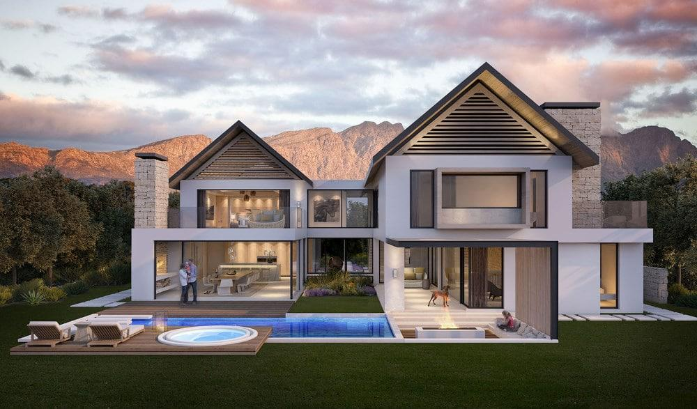 Pair any plot in Pearl Valley residential estate with one of two Stefan Antoni ARRCC designs.