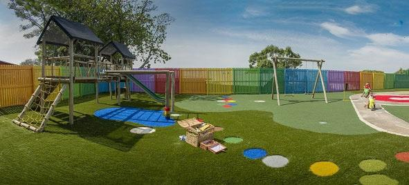 The Belgotex Foundation livened up the LIV Village's Early Childhood Development Centre in Verulam, KwaZulu-Natal with a cheerful new playground using Duraturf artificial lawn to transform it into a safe, stimulating playzone.