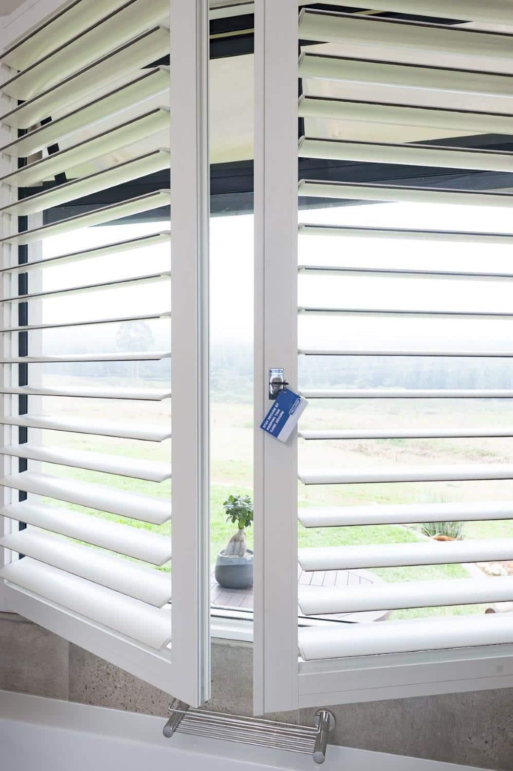 Trellidor Security Shutter aluminium louvre-style shutter with purpose-designed strengthening features. & NEW SHUTTERS BRIDGE GAP BETWEEN ATTRACTIVE DESIGN AND FUNCTIONAL ...