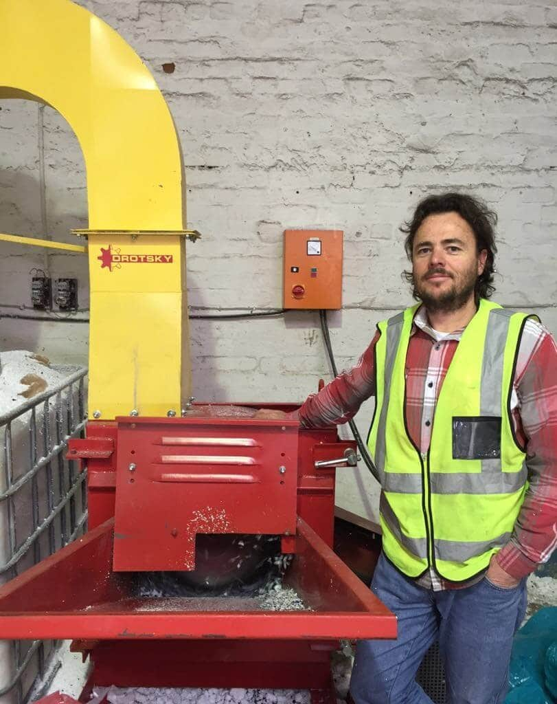 South African recycling projects have found ways to use recycled, post-consumer polystyrene to create lightweight concrete