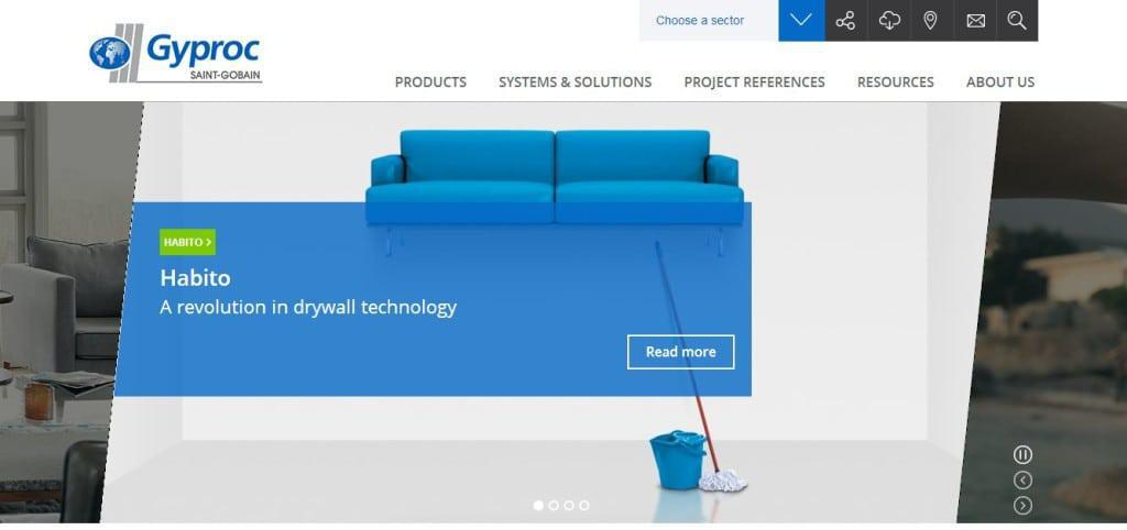 Saint-Gobain Gyproc's new website