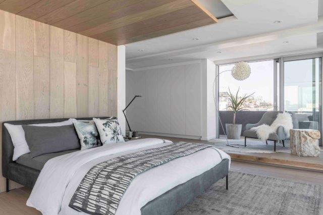 A partnership between Blok and Weylandts Spaces to furnish the triple-story penthouse of TWELVEONV, Blok's Bantry Bay development on Victoria Road.