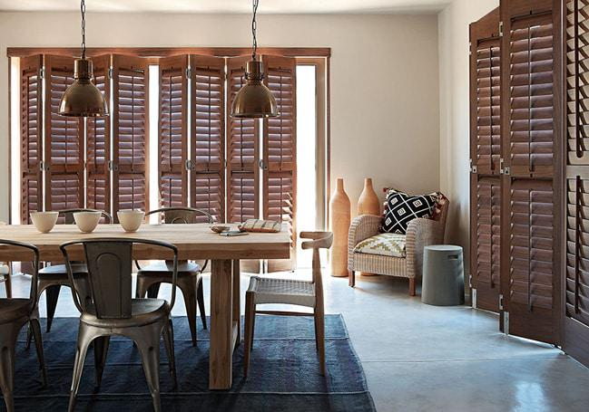 Plantation Timber Shutters and Plantation Security Shutters provide insulation from the cold by adding an extra layer of warmth and protection from the elements during the colder months.