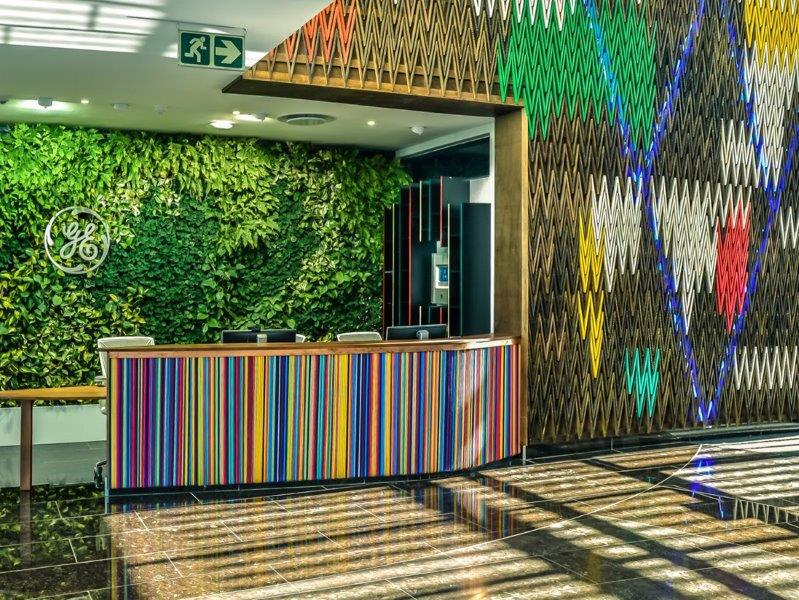 Architecture, interior design, and space-planning practice Paragon was tasked by GE Global Properties to design and fit-out the GE Africa Innovation Centre (GEAIC), the first green- and LEED-certified GE building in Sub-Saharan Africa.