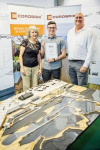 Nelson Mandela Metropolitan University student Matthew Morris has won the regional finals of the Corobrik Architectural Student of the year.