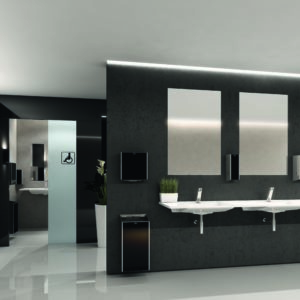 Introducing Franke's new modular EXOS range of accessories for any new or existing public or semi-public washroom design.