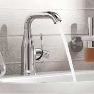 The expanded faucet range Essence by GROHE offers an incredibly rich toolbox for architects and designers with the broadest range of colours, finishes and matching products.