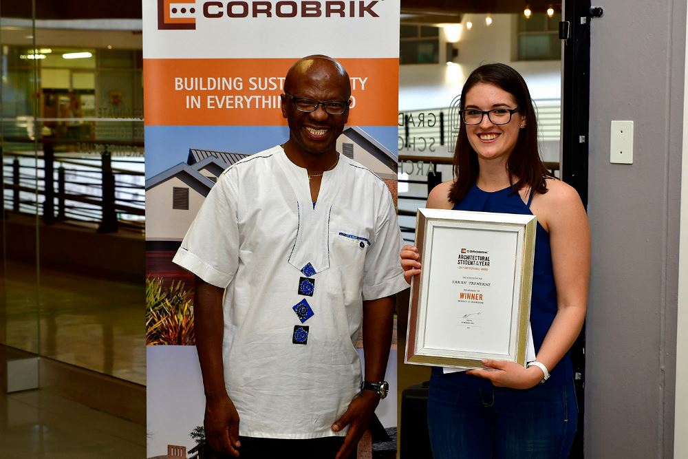 UJ Winner Sarah Treherne with Musa Shangase e-mail