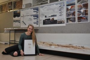 Su-Elna Bester won first prize in the regional Corobrik Architectural Student of the Year Awards at the University of the Free State for her thesis entitled, 'The M.CAC / Multi-Cultural Centre of Dubai'.