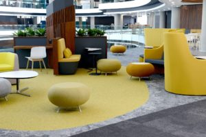 Leading flooring supplier, KBAC Flooring, provided and installed 60 000 square metres of flooring for the impressive new head office of the Discovery Group in Sandton.