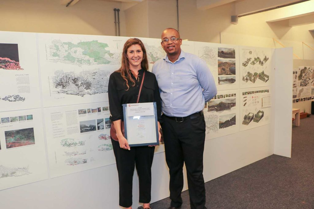 Louise Brukman, a former Master's student at the University of Cape Town, tackled the global problem of how landscape architecture can help repair landscape damaged by fires and prevent future catastrophes, earning her Corobrik's Most Innovative Final Year Landscape Architecture Award for 2017.