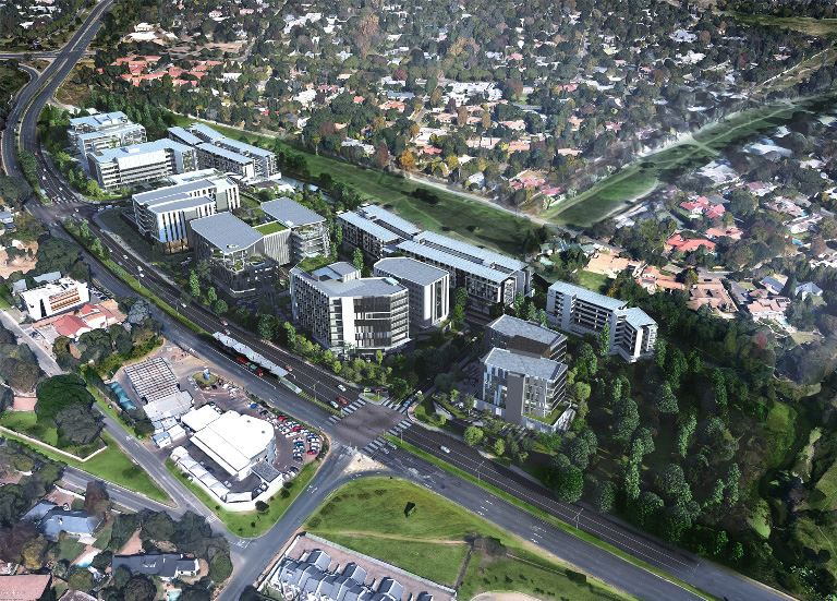 Abland and Tiber break ground on Phase 1 of the Sandton Gate precinct development.