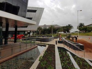 The landscaping at Pran Boulevard on Umhlanga Rocks Drive in KZN was developed holistically in conjunction with the architecture by Paragon.