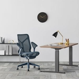 Herman Miller introduces Cosm, the company's first task chair with an automatic tilt and the industry's first suspension armrest.