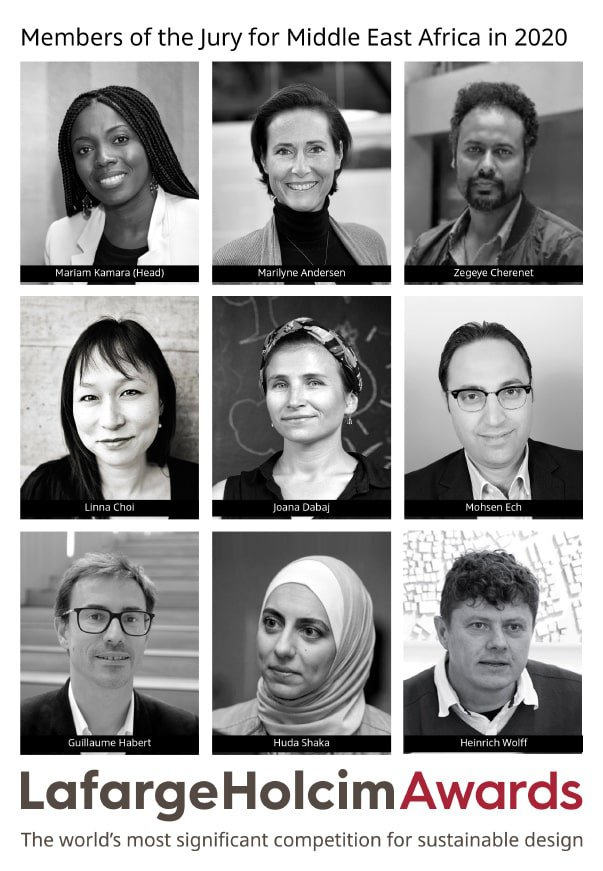 A jury of nine experts headed by Mariam Kamara have been appointed to the LafargeHolcim Awards jury for Middle East Africa in 2020.