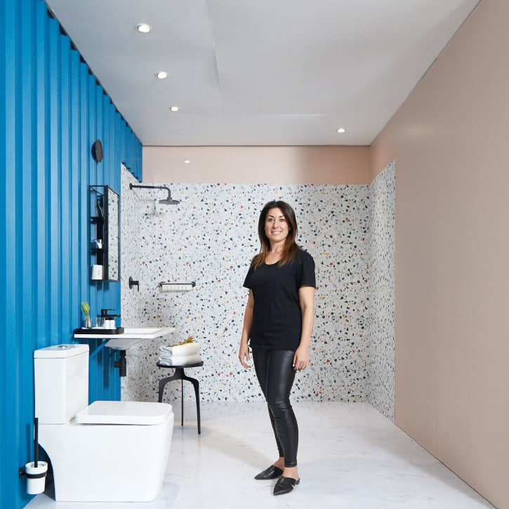 Greenside Design Center student Makhafola Boikanyo and Nicole Goldstein designed bathrooms inspired by abstract artist Walter Whall Battiss in a bid to win a paid internship at Paragon Interface.