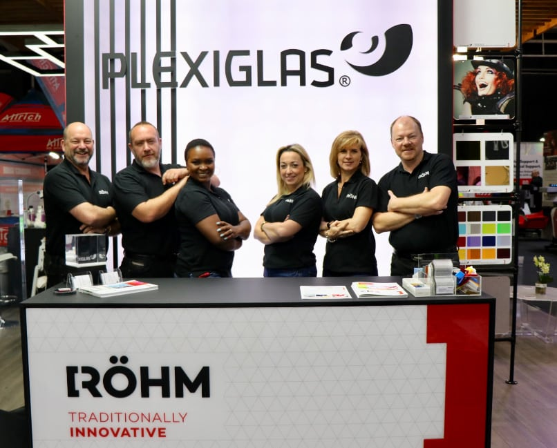 PLEXIGLAS has made its first appearance under the Röhm brand name, premiering this past September at FESPA Africa and Sign Africa.