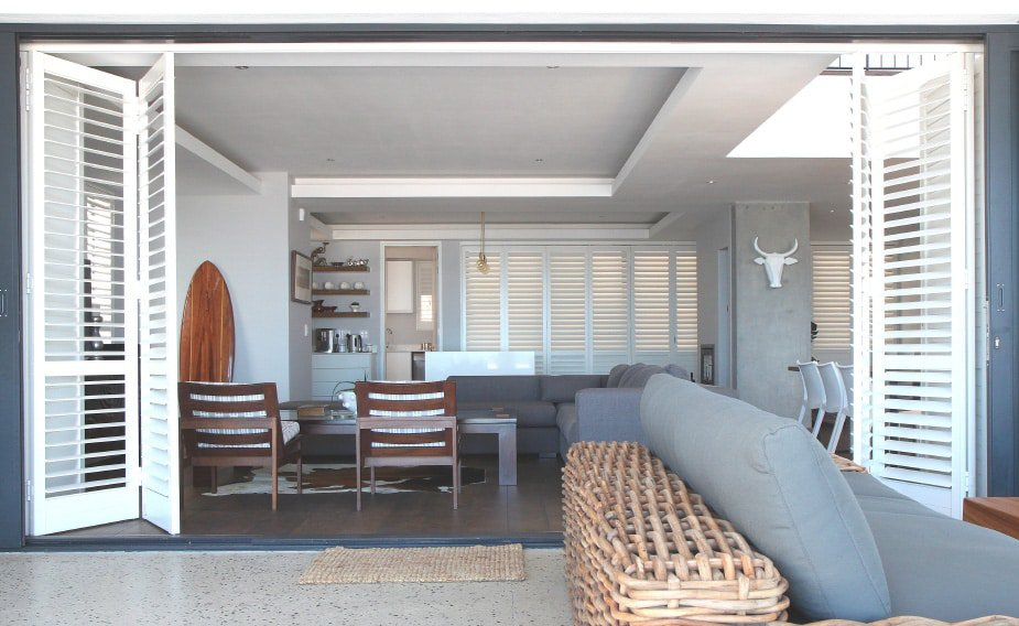 AMERICAN shutters' Security Shutters blend clean-lined appeal, practicality, durability and security into a single window treatment for both indoor and outdoor use.
