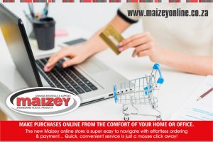 "Maizey Plastics (Pty) Ltd has announced the launch of a new online store, initially catering for ""business to consumer"" transactions with full ""business to business"" integration planned for the next phase."