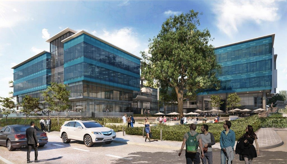 The two newest buildings on the increasingly vibrant intersection of Oxford and Glenhove roads in Rosebank, are targeting a 4-Star Green Star SA Office v1.1 Design rating from the Green Building Council South Africa.
