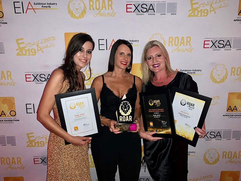 Design Joburg won the highest accolade for Best Trade and Consumer Exhibition as well as Best Marketing Campaign at the recent ROAR Awards for the exhibition organising industry in Africa.