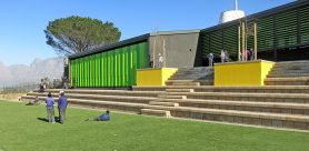 Terraforce blocks were specified for the retaining walls and steps for the outdoor recess area at Botha Halte Primary in the Western Cape.
