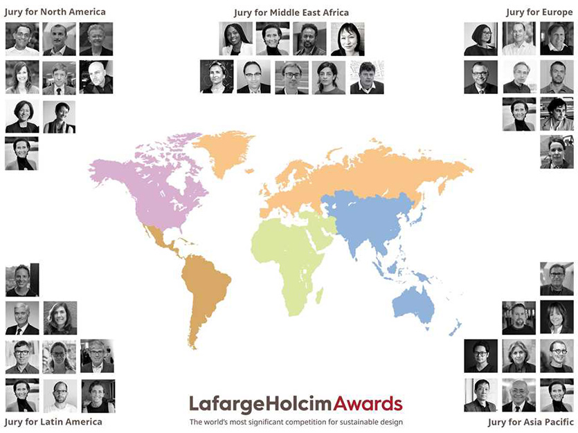 The 6th International LafargeHolcim Awards for projects and visions in sustainable construction attracted almost 5,000 entries by authors in 121 countries