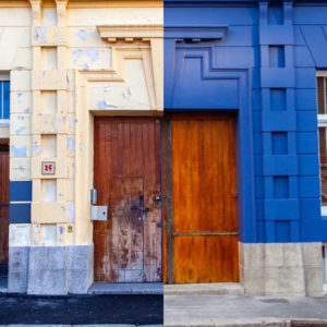 Union House in the heart of Cape Town's Central Business District has been restored with a vibrant deep blue from Plascon and preferred applicator, Indawo, replacing the previous muted beige.