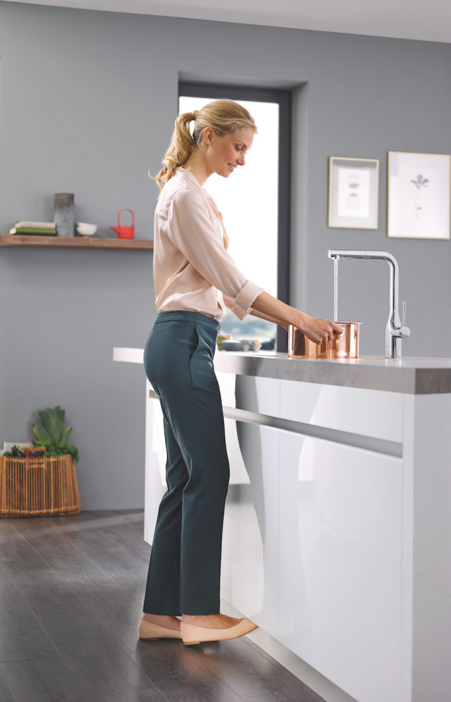 World-renowned German sanitary company GROHE has developed sleek, innovative solutions to make kitchens more elegant and convenient than ever.