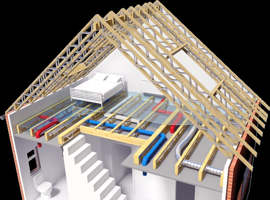 Posi-Joist's timber and steel web flooring system spans greater distances than solid joist alternatives, cuttings costs and construction time, and allowing easy underfloor access.