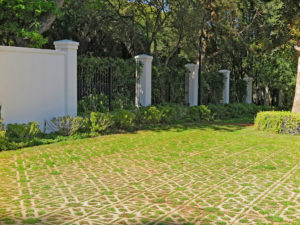 Terracrete hard lawn blocks add a parklike or pastoral feel to many areas at Glen Dirk Estate in Constantia.