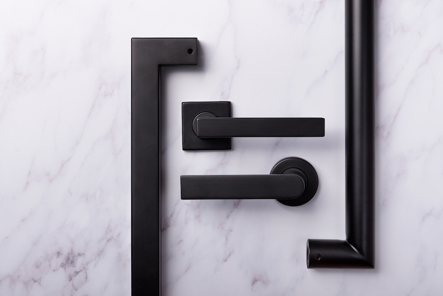 Black Series from UNION – stylish, robust matte black door furniture that will keep its good looks.