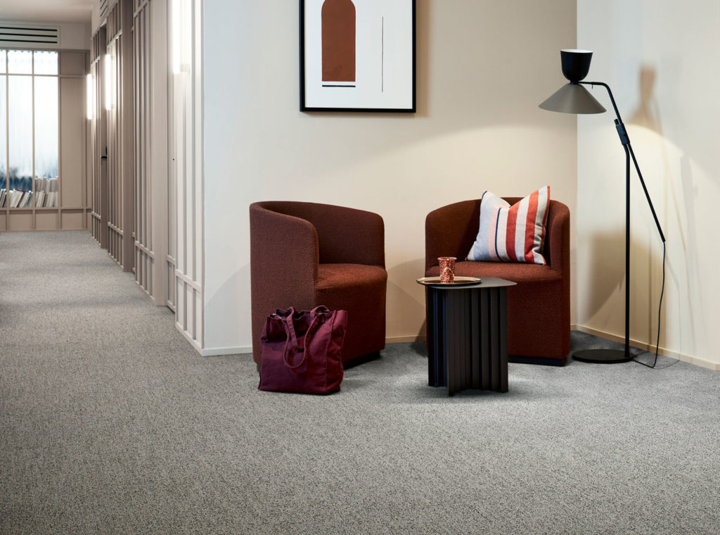 Interface has launched Dolomite, a new carpet tile collection for the commercial workplace inspired by warm mineral colours, available from KBAC Flooring.