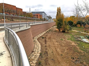 The newly completed Terraforce earth retaining wall at the Salamanca Hospital, Salamanca, Spain, is a display of technical excellence.