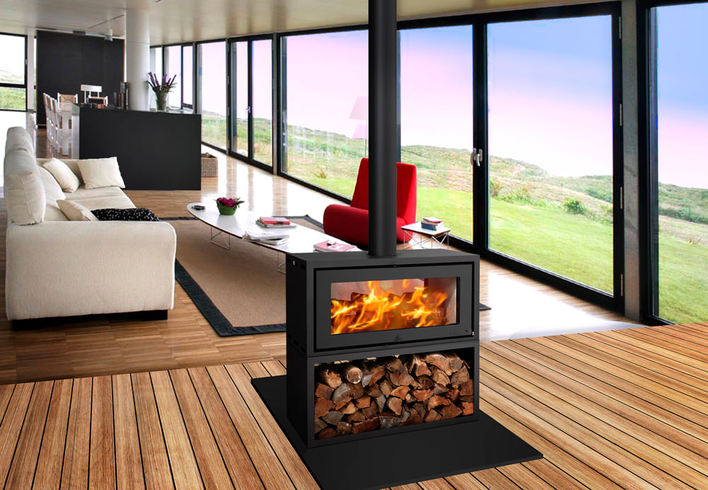 Wood stoves are easy to light, produce lots of heat with minimal wood consumption, have a great flame pattern to sit around and enjoy, and are ideal at heating large open-plan living areas.