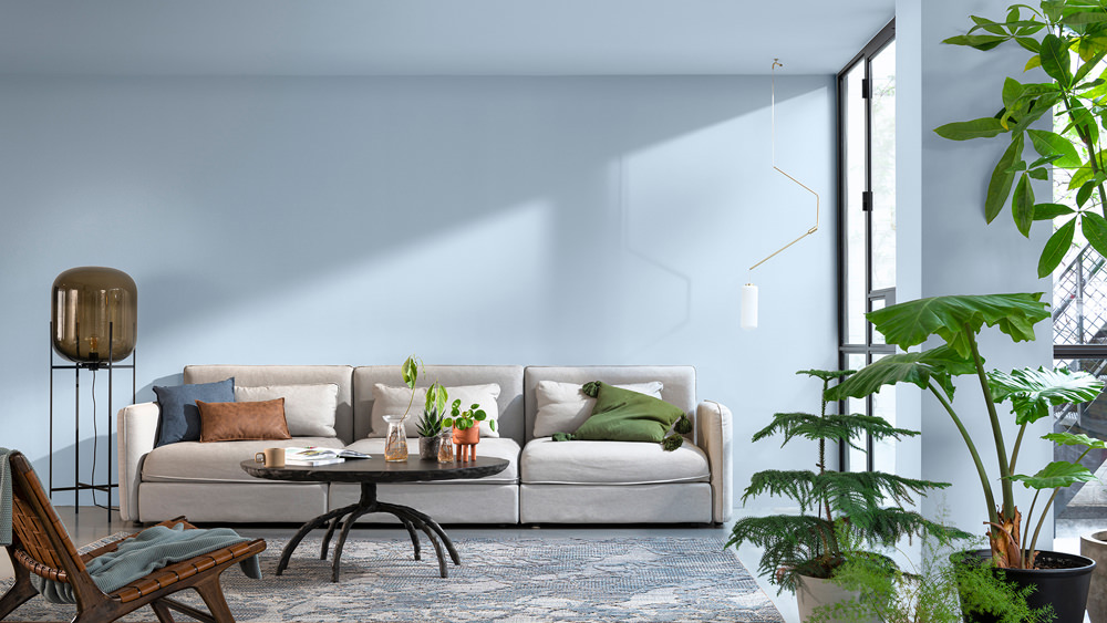 Dulux has revealed the Colour of the Year 2022, an airy, light blue that's fresh, open, and good for the soul.
